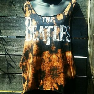 Hippie Chic Tops - THE BEATLES UPCYCLED TEE